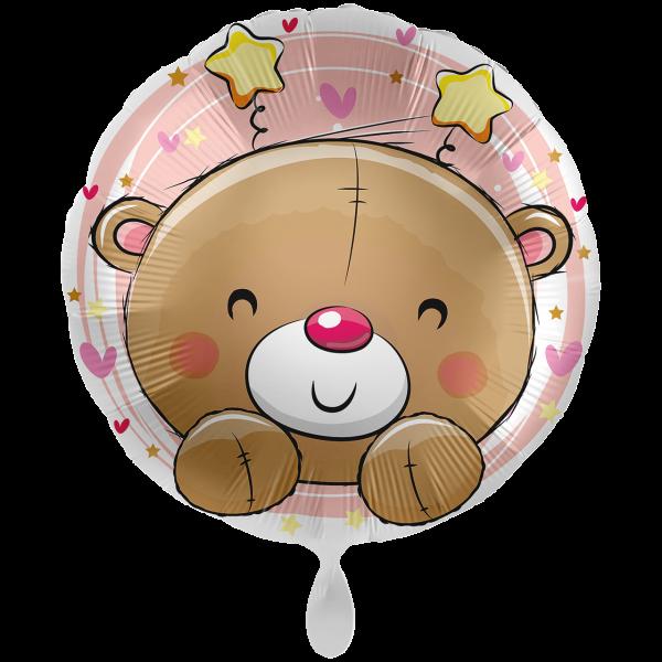1 Ballon XXL - Bear Pink