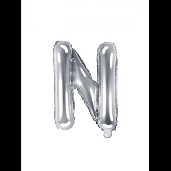 1 Ballon XS - Buchstabe N - Silber