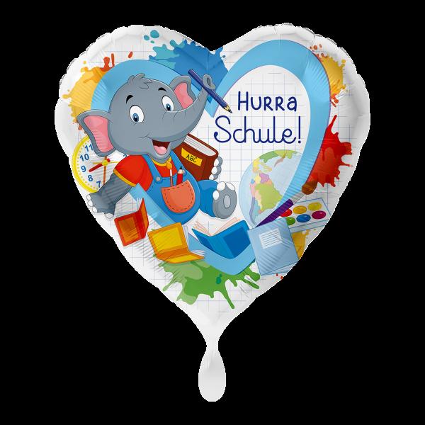 1 Ballon - Elefant Hurra Schule