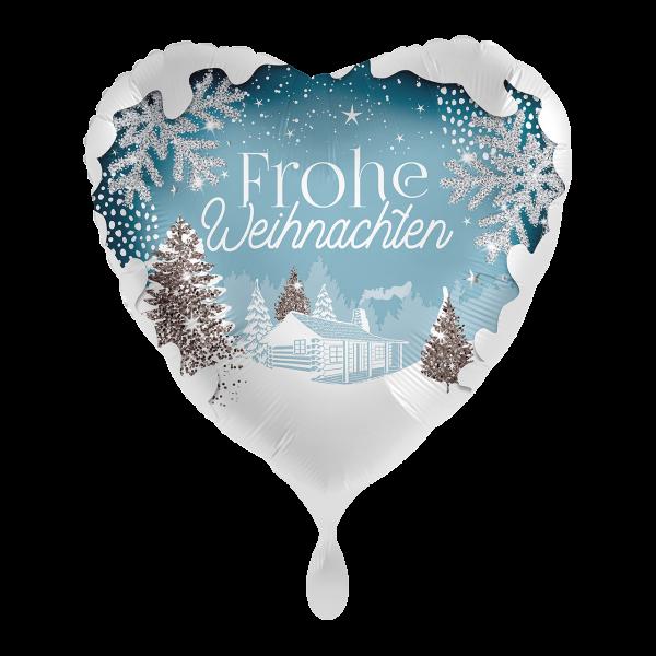 1 Ballon - White Christmas