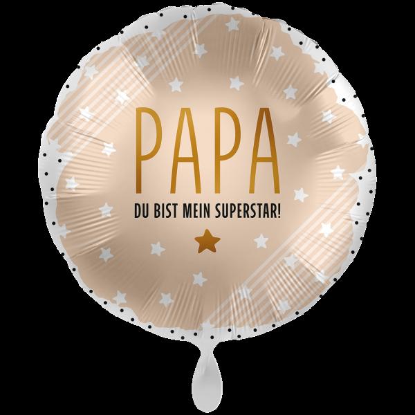 1 Ballon XXL - Papa mein Superstar