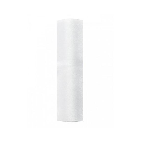 1 Organzastoff Snow - 16cm - Weiß