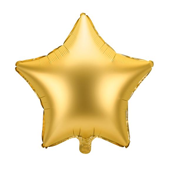 1 Ballon - Stern - Satin - Gold