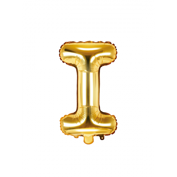 1 Ballon XS - Buchstabe I - Gold
