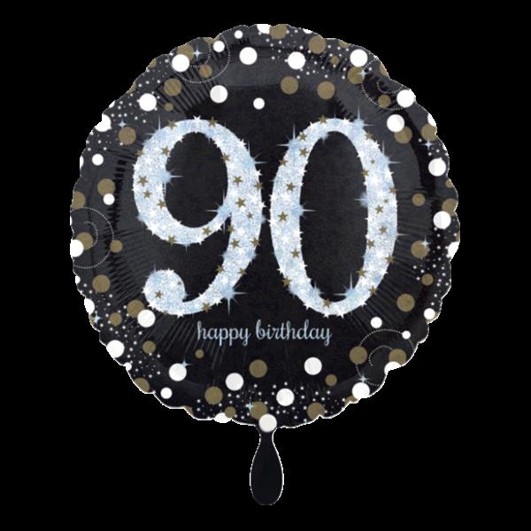 1 Ballon - Sparkling Birthday 90