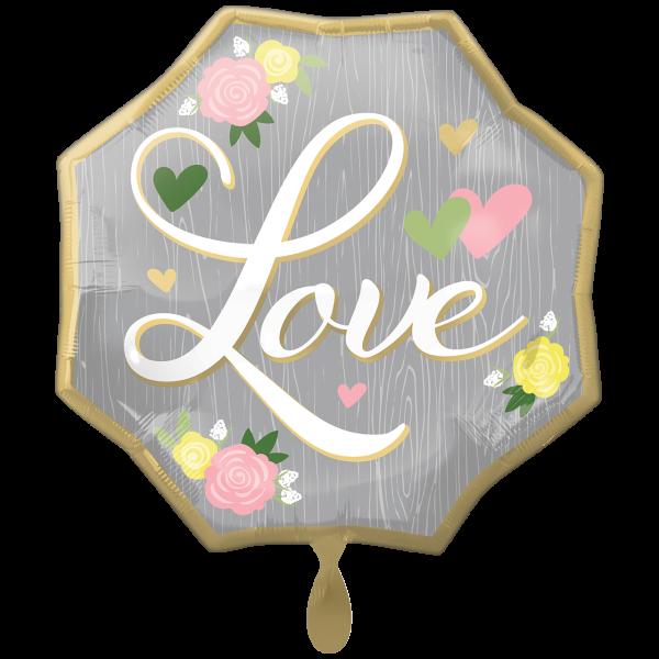 1 Ballon XXL - Wedding Love Floral