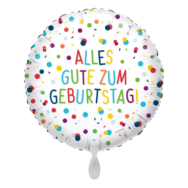 1 Ballon - EU Confetti Birthday Alles Gute