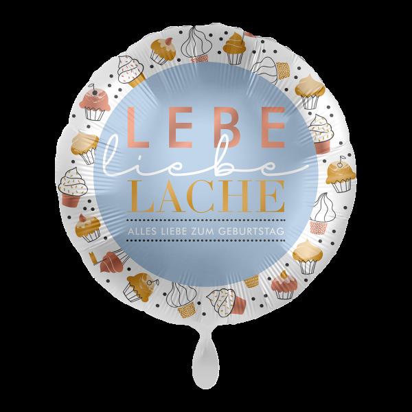 1 Ballon - Lebe Liebe Lache Birthday