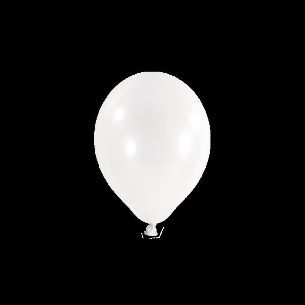 100 Miniballons - Ø 12cm - Transparent