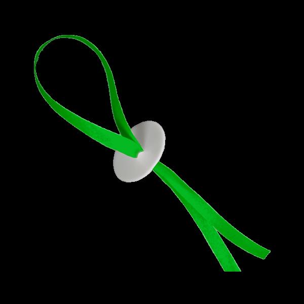 50 Ballonverschlüsse mit Band - Grün