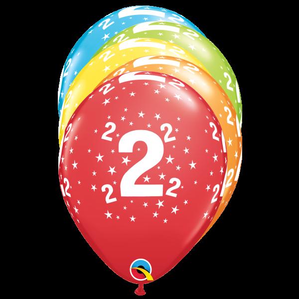 6 Motivballons - Ø 27cm - Age 2