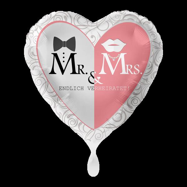 1 Ballon - Mr. & Mrs. Endlich Verheiratet