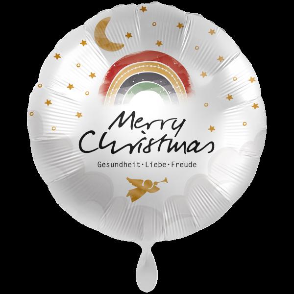 1 Ballon XXL - Christmas Rainbow Wishes