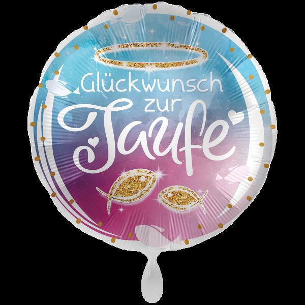 1 Ballon XXL - Taufe Glückwunsch
