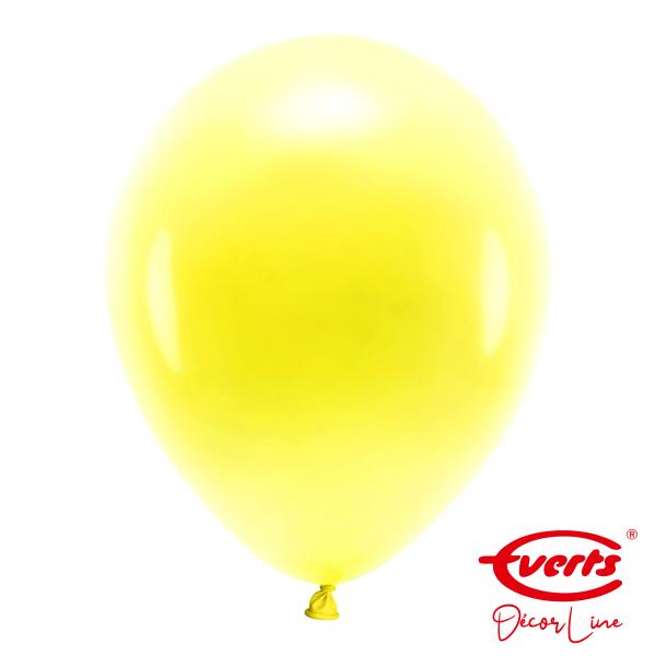 50 Luftballons - DECOR - Ø 35cm - Pearl & Metallic - Sunshine Yellow