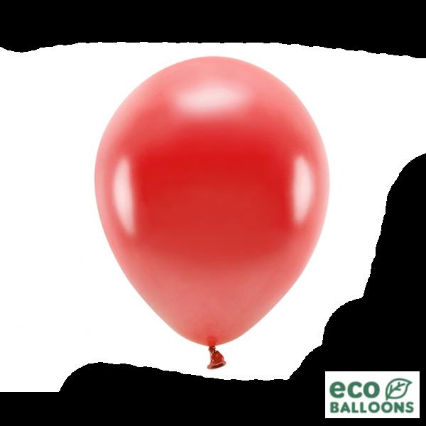 10 ECO-Luftballons - Ø 30cm - Metallic - Red