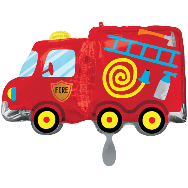 1 Ballon XXL - Fire Truck