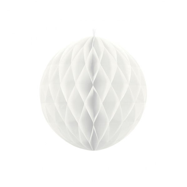 1 Wabenball XL - Ø 20cm - Weiß