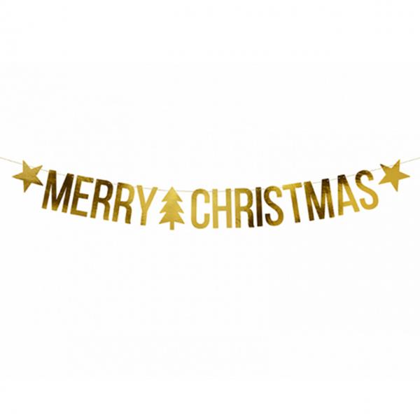 1 Bannergirlande - Merry Christmas Festive