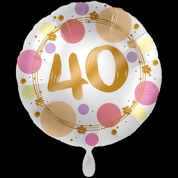1 Ballon XXL - Shiny Dots 40