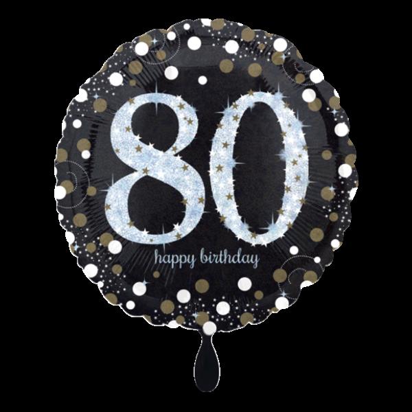 1 Ballon - Sparkling Birthday 80