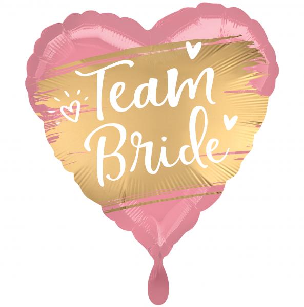 1 Ballon - Satin Gold Team Bride