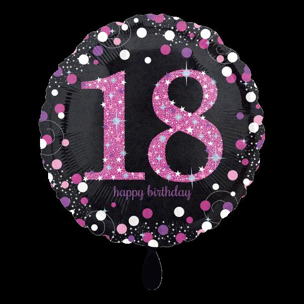 1 Ballon - Pink Celebration 18