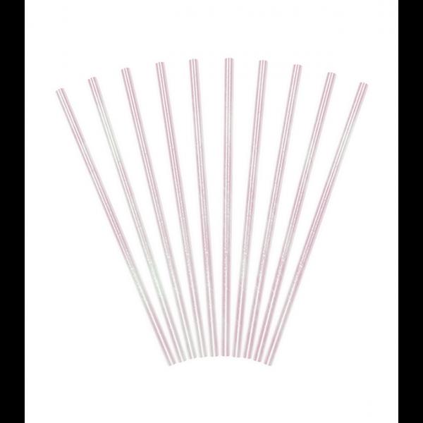 10 Papierstrohhalme - Iridescent