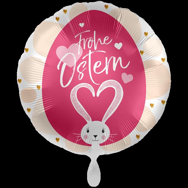 1 Ballon XXL - Frohe Ostern Loving Bunny