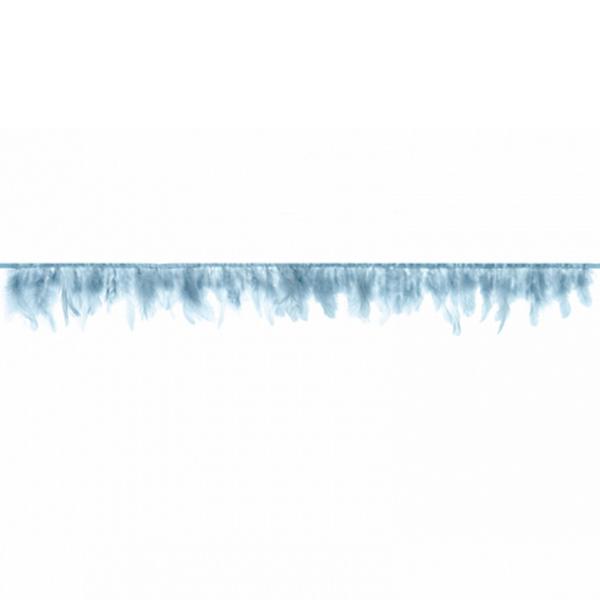 1 Federgirlande - 1m - Hellblau