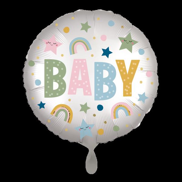 1 Ballon - Satin Infused Natural Baby