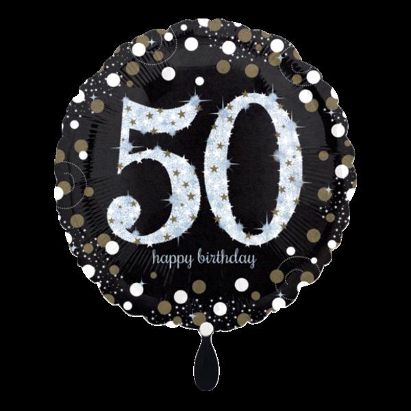 1 Ballon - Sparkling Birthday 50