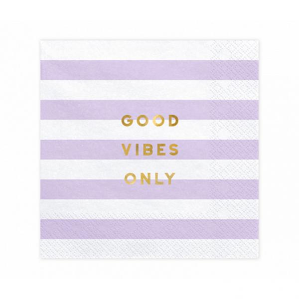 20 Servietten Trend - 33cm - Good Vibes Only