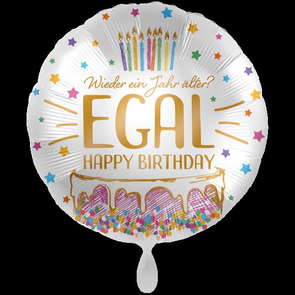 1 Ballon XXL - Wieder ein Jahr älter? EGAL