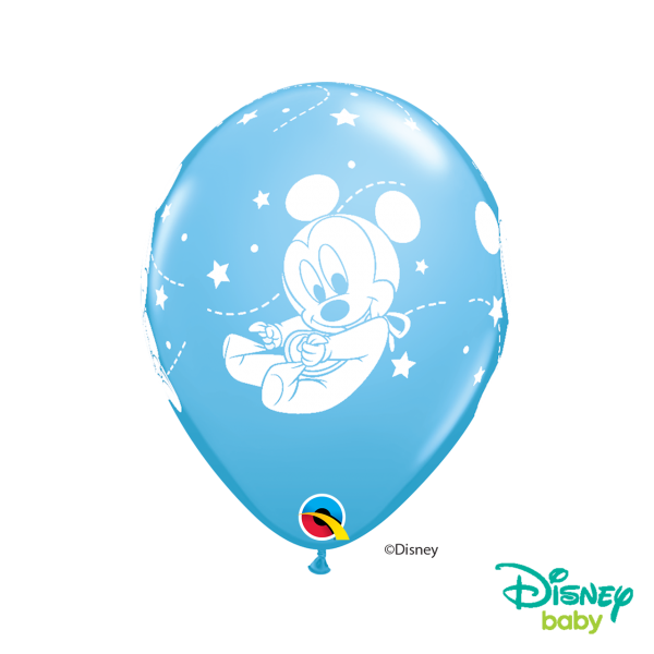 6 Motivballons - Ø 27cm - Baby Mickey Stars