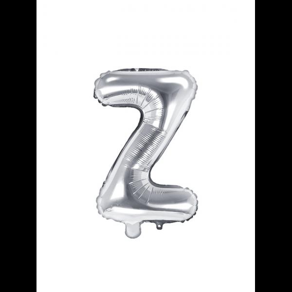 1 Ballon XS - Buchstabe Z - Silber