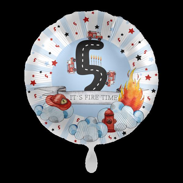 1 Ballon - Happy Fire Engine - Fünf