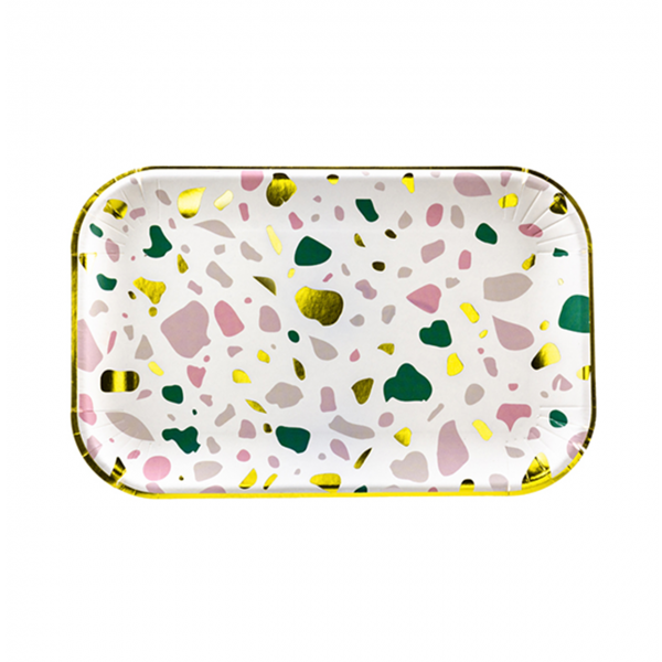 6 Pappteller Trend - Ø 22cm - Modern Art