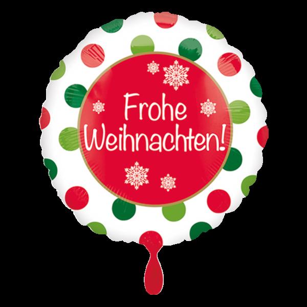 1 Ballon - Frohe Weihnachten