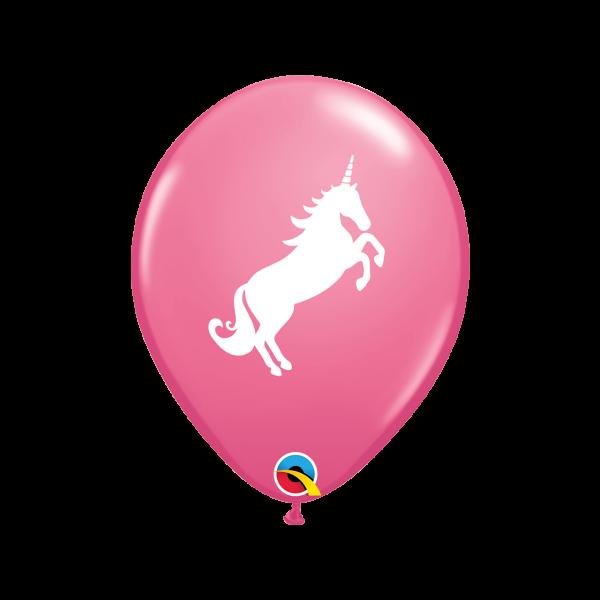 6 Motivballons - Ø 27cm - Unicorn