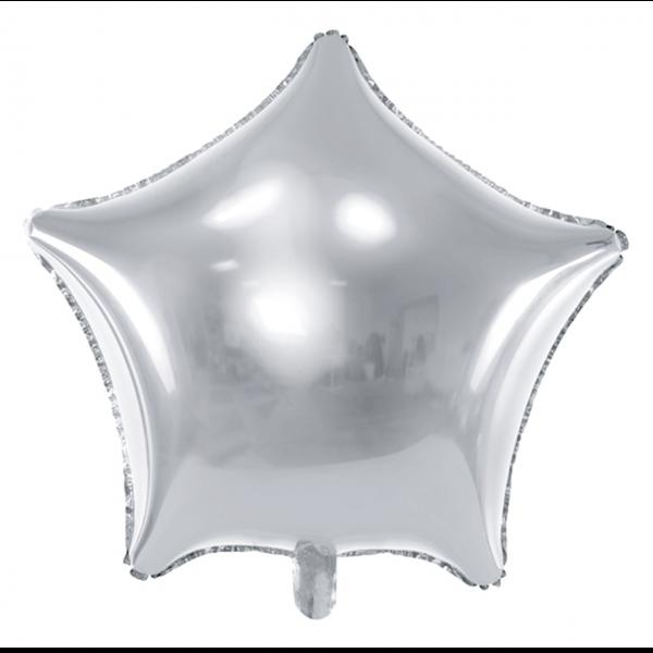 1 Ballon XXL - Stern - Silber