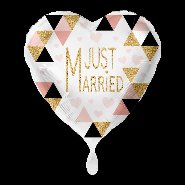 1 Ballon - Just Married Modern