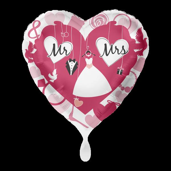 1 Ballon - Mr. & Mrs.