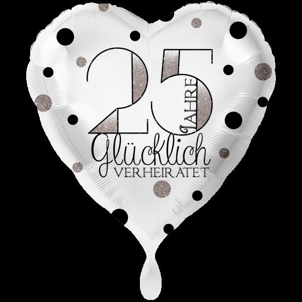 1 Ballon XXL - 25 Jahre Glücklich