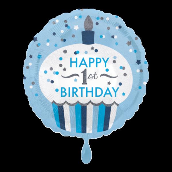 1 Ballon - 1st Birthday Cupcake Boy