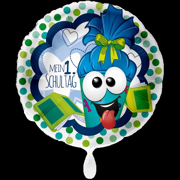 1 Ballon XXL - Mein 1. Schultag Blau