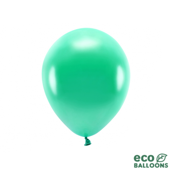 10 ECO-Luftballons - Ø 26cm - Metallic - Green