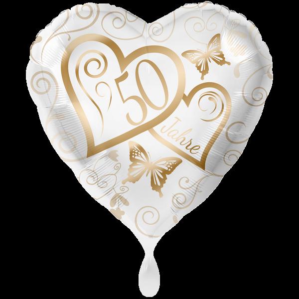 1 Ballon XXL - Herzen 50 Jahre