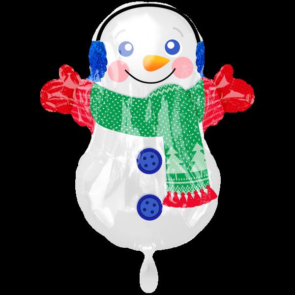 1 Ballon - Adorable Snowman