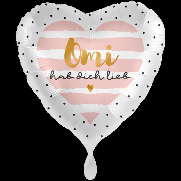 1 Ballon XXL - Omi hab Dich lieb